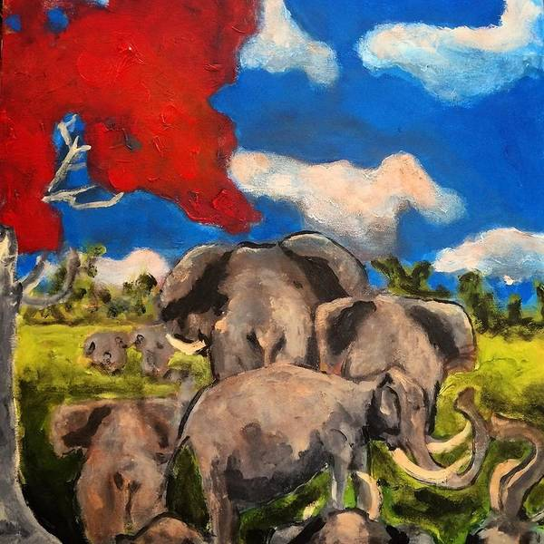 Painting - The  Herd by Dilip Sheth