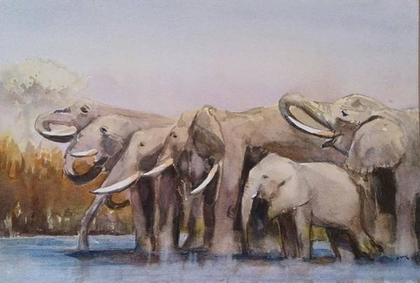 Painting - The Herd by Kathy  Karas