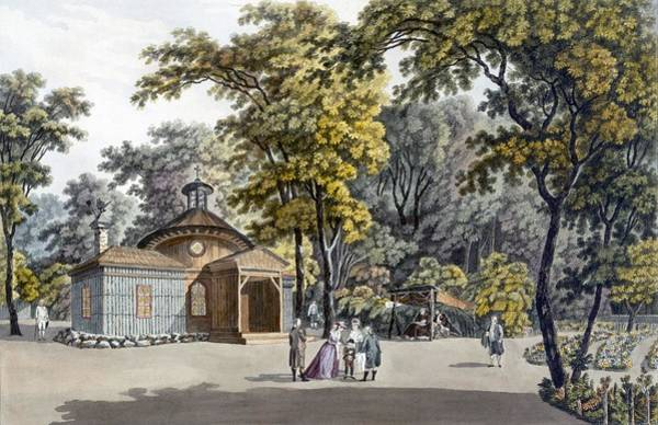 Pleasure Drawing - The Hermitage At The Garden by Laurenz Janscha