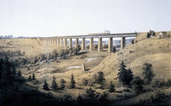 Wall Art - Drawing - The High Bridge Near Farmville, Prince by Edward Beyer