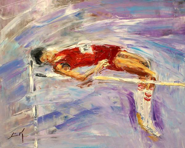 High Jump Painting - The High Jump by Luke Karcz