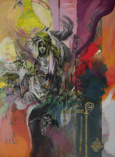 Kabbalah Painting - The High Priestess by Corporate Art Task Force