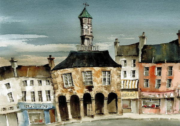 Painting - Kilkenny  The High Street Kilkenny by Val Byrne