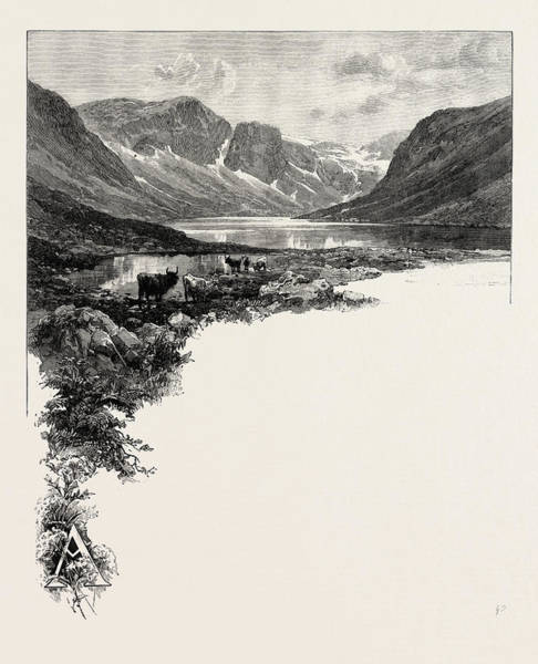 Wall Art - Drawing - The Highland Dee Ben Macdhui, Is The Second Highest by English School