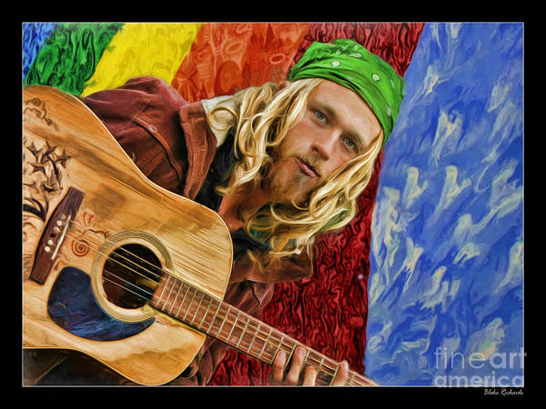 Photograph - The Hippie Player by Blake Richards