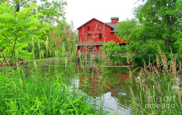 Bonneyville Mill Wall Art - Photograph - The Historical Building by Tina M Wenger