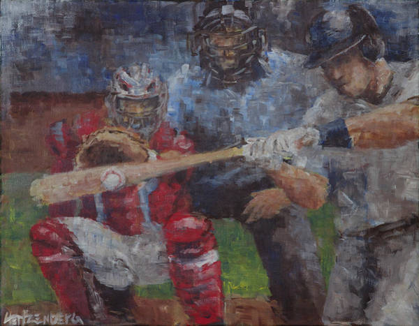 Hitter Painting - Contact by Josh Hertzenberg