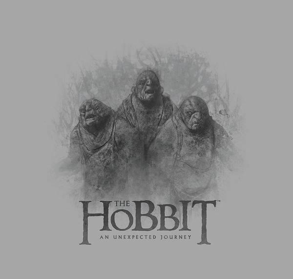 Troll Wall Art - Digital Art - The Hobbit - Three Trolls by Brand A