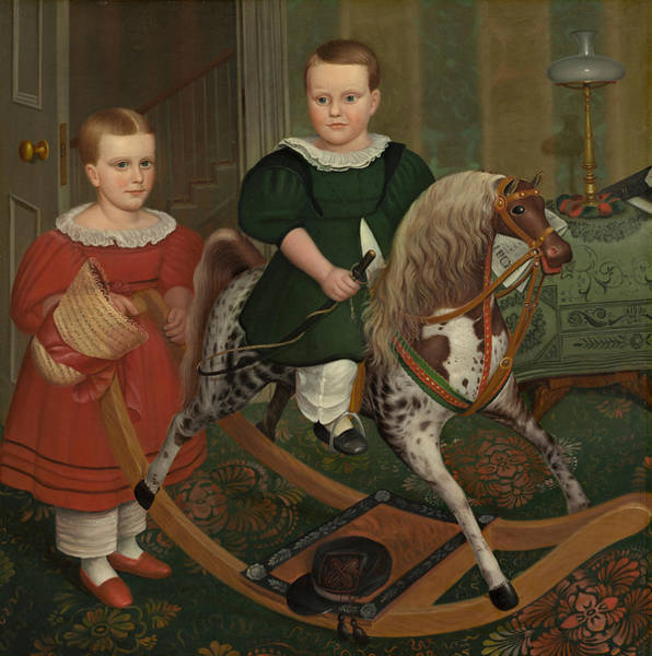 Hobby Painting - The Hobby Horse by American School