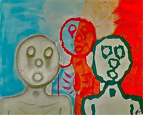 The Hollow Men 88 - Study Of Three Art Print