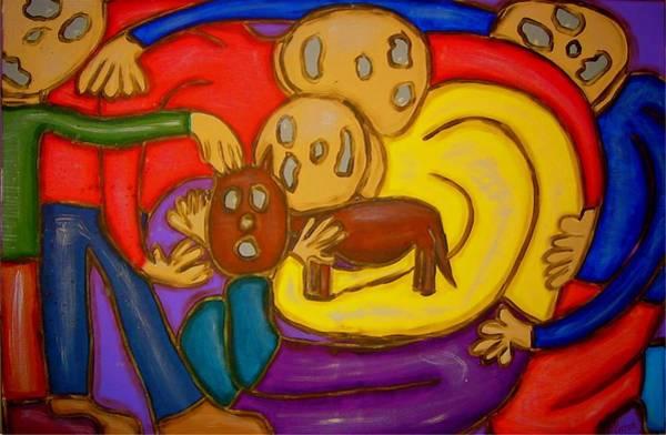 Painting - The Hollowmen Family by Mario MJ Perron