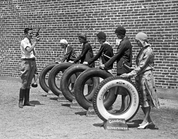 Bobby Wall Art - Photograph - The Hollywood Nail Test For Goodrich Tires by Underwood Archives