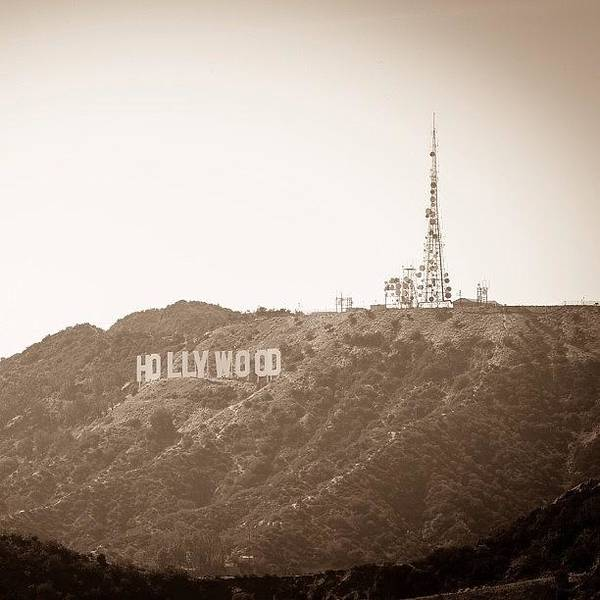 Fantasy Wall Art - Photograph - The Hollywood Sign View From Griffith by Tony Castle
