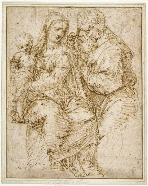Wall Art - Drawing - The Holy Family Baldassare Peruzzi, Italian by Litz Collection