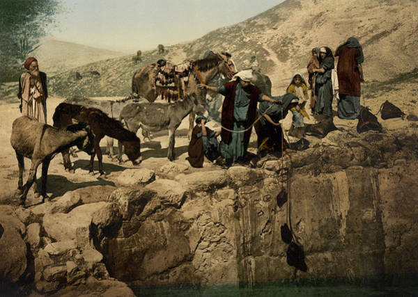 Holy Land Photograph - The Holy Land Circa 1890 by Aged Pixel