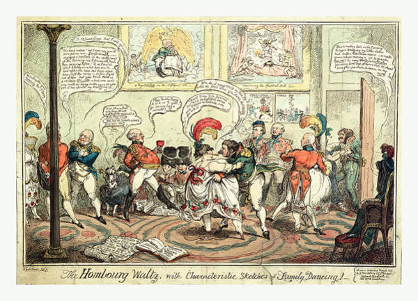 Traditional Dances Drawing - The Hombourg Waltz, With Characteristic Sketches Of Family by Litz Collection