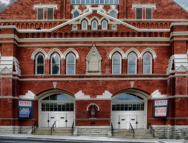 Ryman Auditorium Photograph - The Home Of Country Music by Mountain Dreams