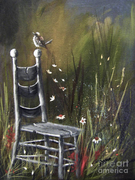 Rocker Painting - The Homecoming by Sharon Burger