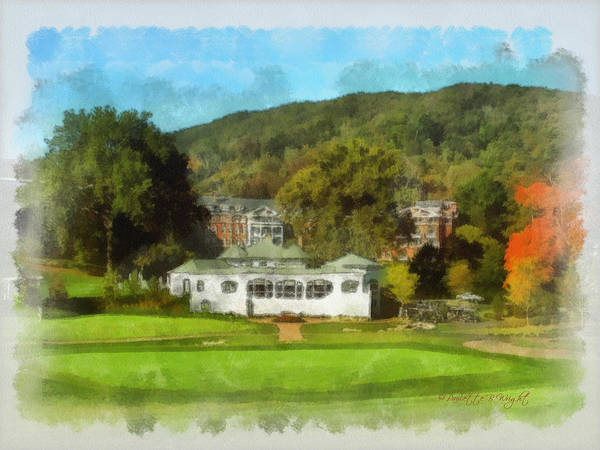 Photograph - The Homestead Country Club by Paulette B Wright