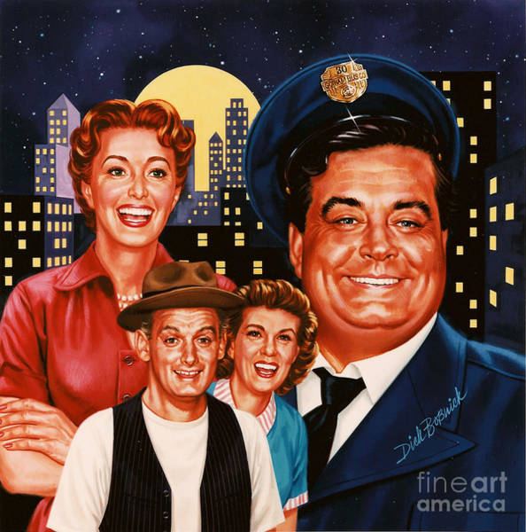 Wall Art - Painting - The Honeymooners by Dick Bobnick