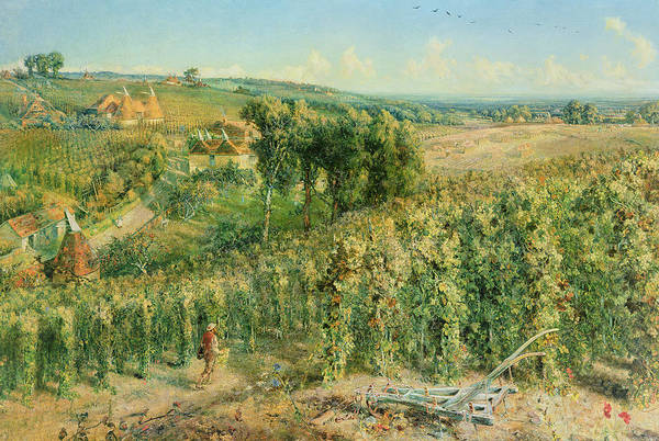 Hops Painting - The Hop Garden by Cecil Gordon Lawson