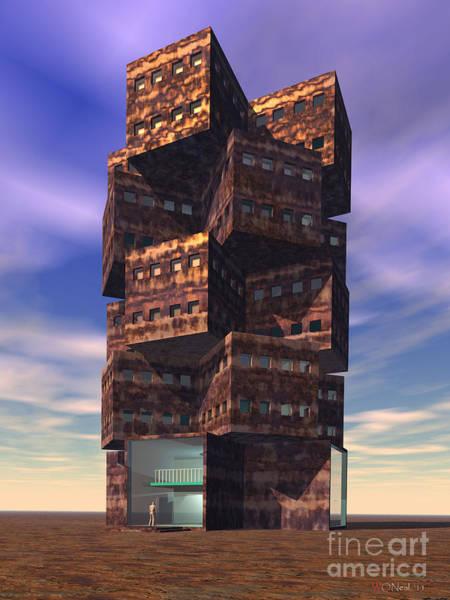 Digital Art - A Dormitory by Walter Neal
