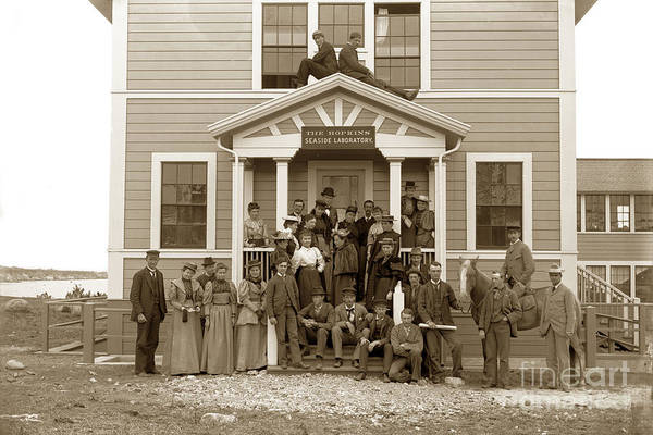 Photograph - The Hopkins Seaside Laboratory At Lovers Point Pacific Grove California Circa 1893 by California Views Archives Mr Pat Hathaway Archives