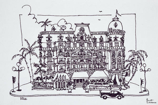 Wall Art - Photograph - The Hotel Negresco Located by Richard Lawrence