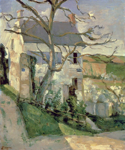 Wall Art - Painting - The House And The Tree, C.1873-74 by Paul Cezanne