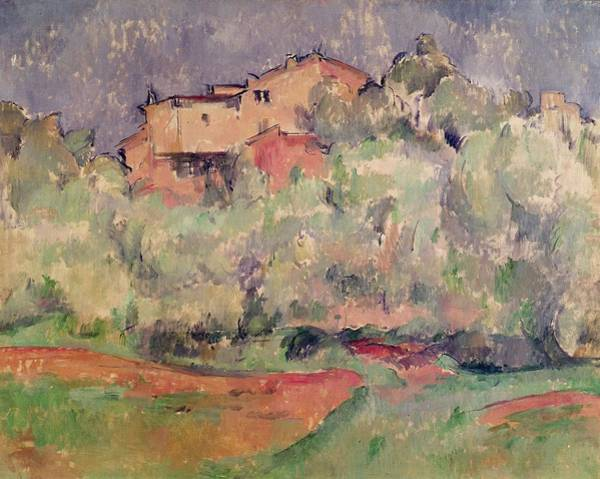 Maison Photograph - The House At Bellevue, 1888-92 Oil On Canvas by Paul Cezanne
