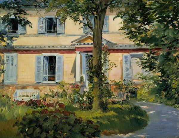 Wall Art - Painting - The House At Rueil by Edouard Manet