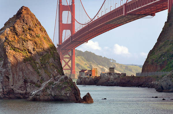 Furon Photograph - The House Below The Golden Gate Bridge by Daniel Furon
