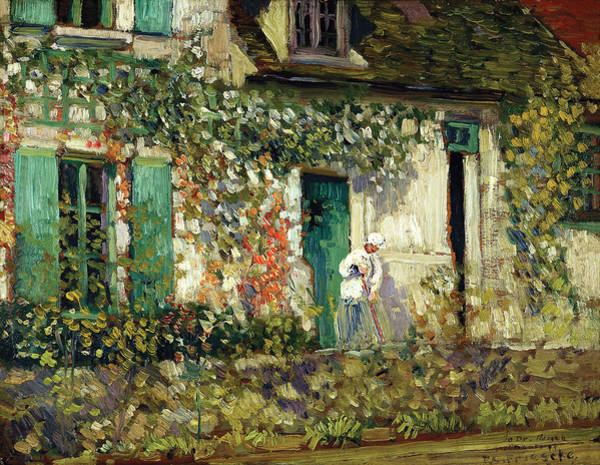 Victorian House Digital Art - The House In Giverny by Carl Frieseke