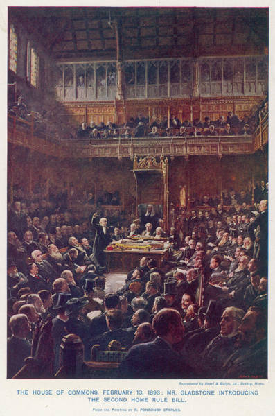 Gladstone Wall Art - Drawing - The House Of Commons,  February 13 1893 by Mary Evans Picture Library
