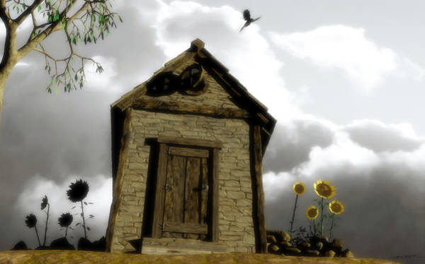 Stormy Digital Art - The House Of Light And Shadow by Cynthia Decker
