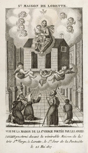Paranormal Drawing - The House Of Mary, Mother Of  Jesus by Mary Evans Picture Library