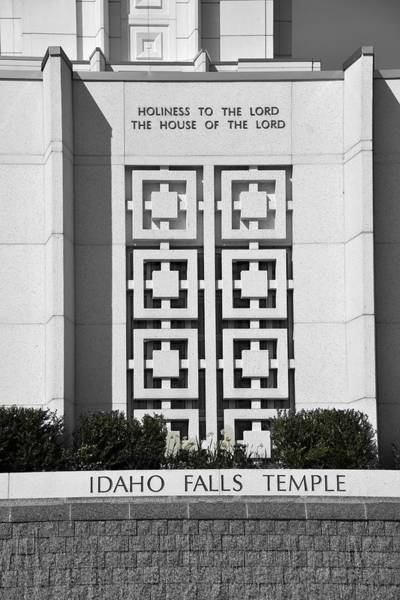 Bonneville County Photograph - The House Of The Lord by Image Takers Photography LLC - Carol Haddon