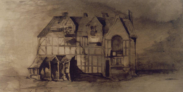 Elizabethan Wall Art - Painting - The House Of William Shakespeare by Victor Hugo