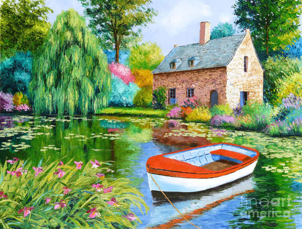 Impressionist Digital Art - The House Pond by MGL Meiklejohn Graphics Licensing