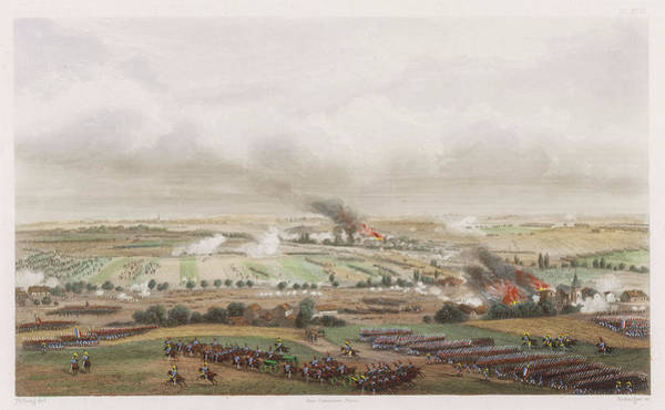 Wall Art - Drawing - The Hundred Days Battle Of Ligny by Mary Evans Picture Library