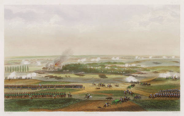 Wall Art - Drawing - The Hundred Days Battle Of Waterloo by Mary Evans Picture Library