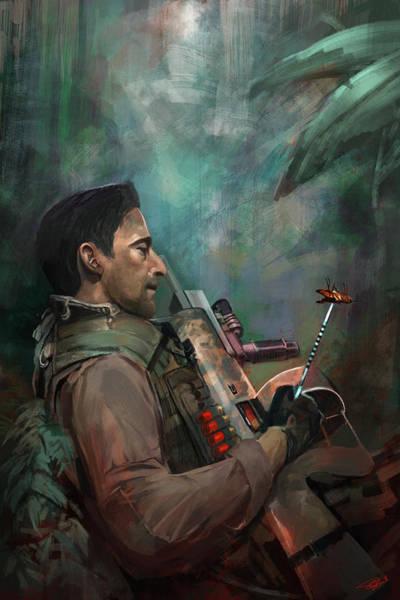 Digital Art - The Hunting Of Man by Steve Goad