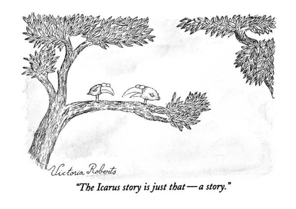 Tree Drawing - The Icarus Story Is Just That - A Story by Victoria Roberts