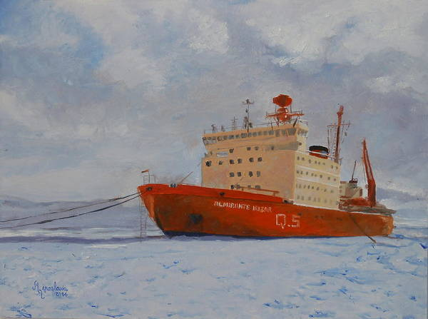 Ir Painting - The Icebreaker by Silvana Miroslava Albano