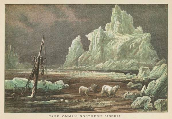 Wall Art - Drawing - The Icy Coast At Cape Omman, Northern by Mary Evans Picture Library