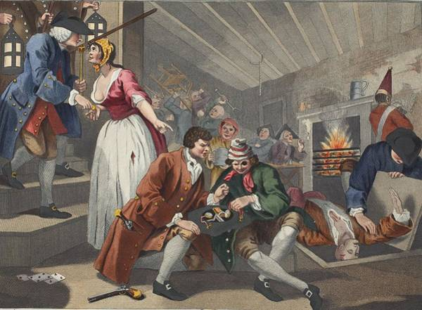Morality Wall Art - Drawing - The Idle Prentice Betrayed by William Hogarth