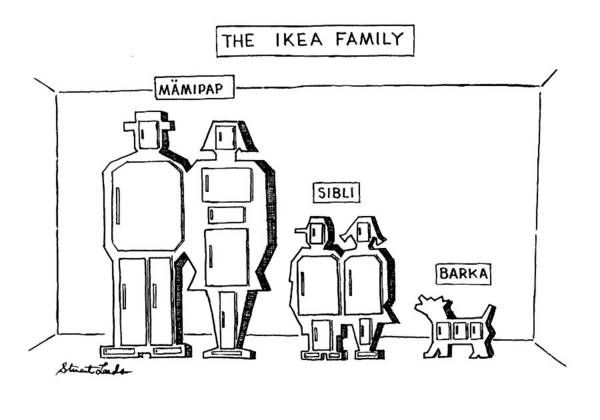 1993 Drawing - The Ikea Family by Stuart Leeds