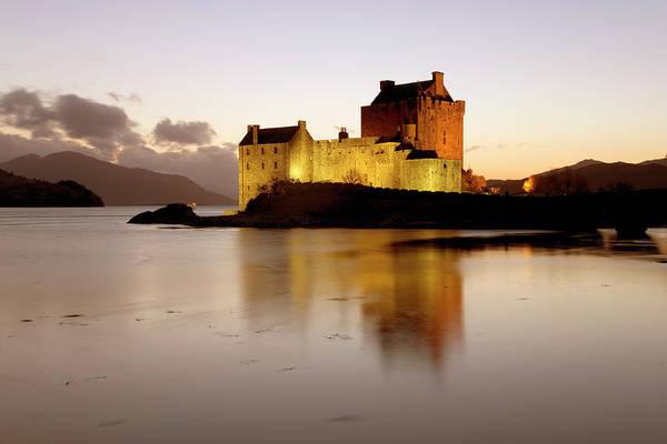 Wall Art - Photograph - The Illuminated Castle Of Eilean Donan by David C Tomlinson