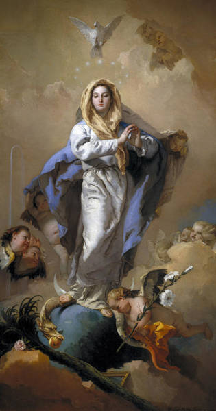 Immaculate Conception Wall Art - Painting - The Immaculate Conception by Giovanni Battista Tiepolo