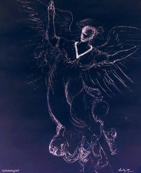 Drawing - The Immortal Angel II by Giorgio Tuscani